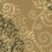 HMY57514 Harmony Cinnamon Geo Medallion Wallpaper