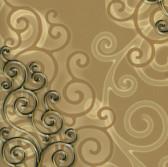 Harmony Cinnamon Geo Medallion Wallpaper HMY57514