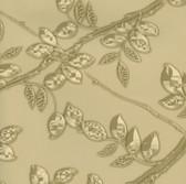 Harmony Gold Metal Leaf Wallpaper HMY57535