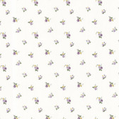Dollhouse VIII 487-68812 Debbie Purple Small Rose Toss wallpaper