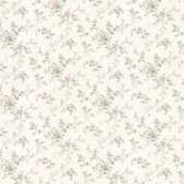 Dollhouse VIII 487-68825 Janine Blush Climbing Rose wallpaper