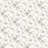 Dollhouse VIII 487-68826 Janine Purple Climbing Rose wallpaper