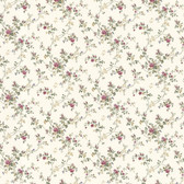 Dollhouse VIII 487-68828 Janine Burgundy Climbing Rose wallpaper