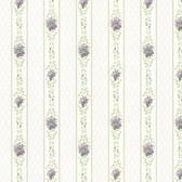 Dollhouse VIII 487-68833 Jaynie Purple Trellis Stripe wallpaper