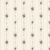 Dollhouse VIII 487-68835 Jaynie Burgundy Trellis Stripe wallpaper