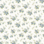 Dollhouse VIII 487-68846 Isabella Blue Rose Trail wallpaper