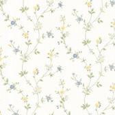 Dollhouse VIII 487-68860 Deanna Light Blue Trail wallpaper