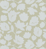 Echo Design 566-43942 Freesia Taupe Fun Floral wallpaper