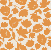 Echo Design 566-43946 Freesia Orange Fun Floral wallpaper