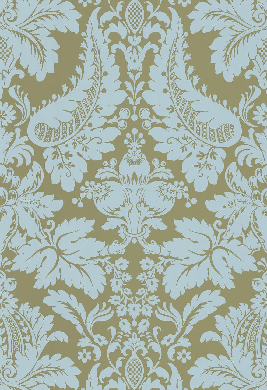 Echo Design 566 43947 Lopeka Taupe Modern Damask Wallpaper