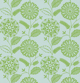 Echo Design 566-43956 Resort Green Modern Floral wallpaper