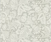Echo Design 566-43967 Bali Light Grey Scrolling Pattern wallpaper