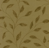 Echo Design 566-43985 Elspeth Brown Metallic Leaf wallpaper