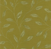 Echo Design 566-43988 Elspeth Mustard Metallic Leaf wallpaper