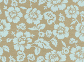 Echo Design 566-44502 Bliss Light Blue Grasscloth Floral wallpaper
