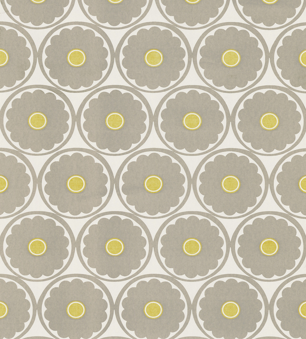566 44900 Flower Power Light Grey Retro Floral Wallpaper
