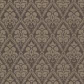 566-44923 Liesel Brown Damask wallpaper
