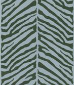 566-44928 Tailored Zebra Blue Herringbone Zebra wallpaper