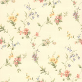 436-38536 - Suzanne Taupe Floral Trail wallpaper