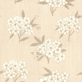 436-54203 - Giacinto Taupe Large Floral wallpaper
