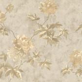 436-54263 - Julianne Taupe Magnolia Trail wallpaper