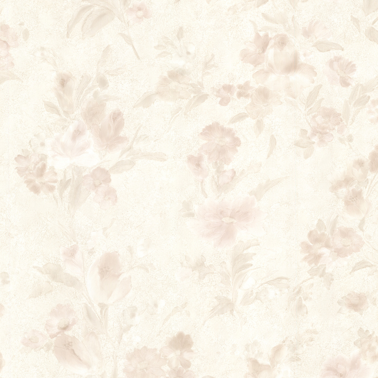 436 54513 Violetta Peach Satin Floral Wallpaper