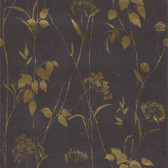 436-65506 - Carson Dark Grey Botanical Silhouette wallpaper