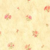 436-65775 - Petunia Light Green Marble Floral wallpaper