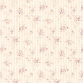 436-66373 - Delilah Mauve Floral Stripe wallpaper