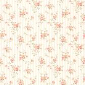 436-66374 - Delilah Peach Floral Stripe wallpaper