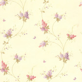 436-66403 - Isabelle Mauve Butterfly Floral Trail wallpaper