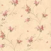 436-66404 - Isabelle Pink Butterfly Floral Trail wallpaper