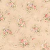 436-66406 - Carolina Taupe Rose Bouquet wallpaper