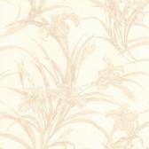 436-66604 - Vivianne Beige Iris Floral  wallpaper