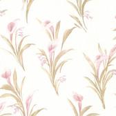 436-66606 - Edith Mauve Satin Lily wallpaper