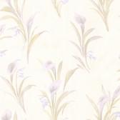 436-66608 - Edith Lavender Satin Lily wallpaper