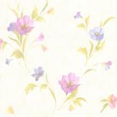 436-66609 - Kala Purple Satin Floral wallpaper