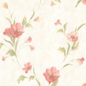 436-66613 - Kala Salmon Satin Floral wallpaper