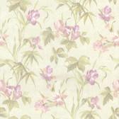 436-66619 - Yvonne Light Green Satin Iris wallpaper
