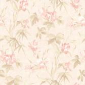 436-66620 - Yvonne Pink Satin Iris wallpaper