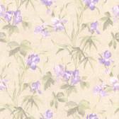436-66621 - Yvonne Purple Satin Iris wallpaper