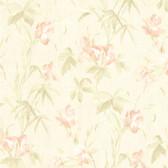 436-66622 - Yvonne Peach Satin Iris wallpaper