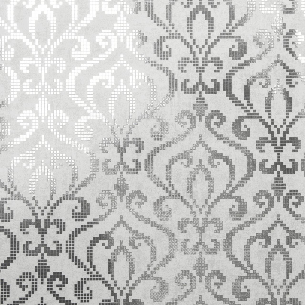 2542 20754 Venus Silver Foil Mini Damask Wallpaper