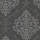 2542-20718 Ambrosia Charcoal Glitter Damask  wallpaper