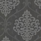 2542-20718 Ambrosia Charcoal Glitter Damask  wallpaper