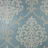 2542-20715 Ambrosia Teal Glitter Damask  wallpaper