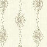 2542-20732 Alvina Gold Ironwork Stripe  wallpaper