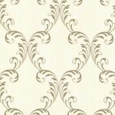 2542-20735 Quill Gold Ironwork Leaf  wallpaper