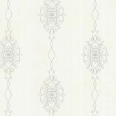 2542-20733 Alvina Platinum Ironwork Stripe  wallpaper