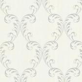 2542-20736 Quill Platinum Ironwork Leaf  wallpaper